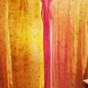 Silk eco dyed fabrics
